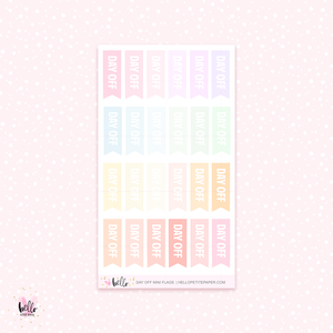 Day off mini flags - mini planner stickers