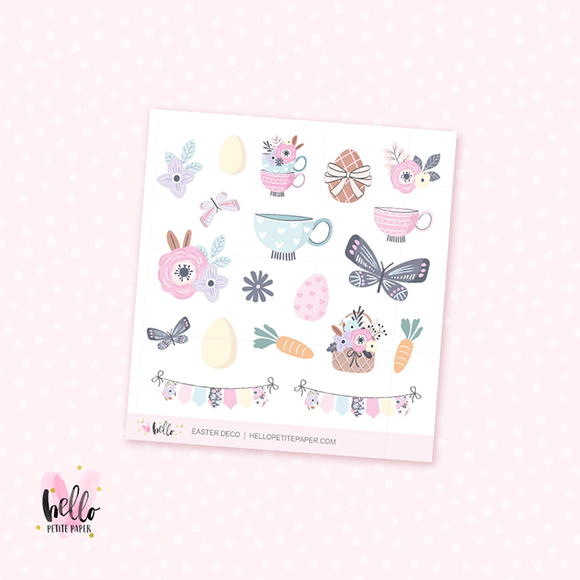 Easter - Kit deco, planner stickers