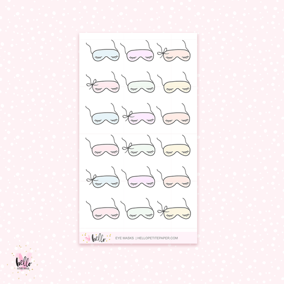 Eye masks - mini planner stickers