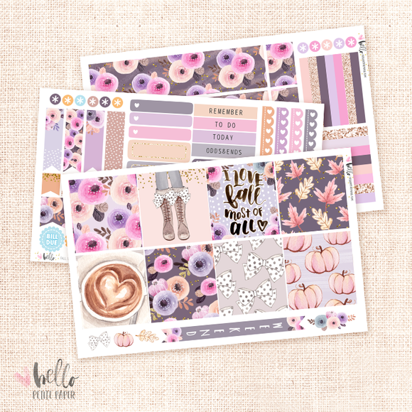 Fall Girl - Horizontal sticker kit