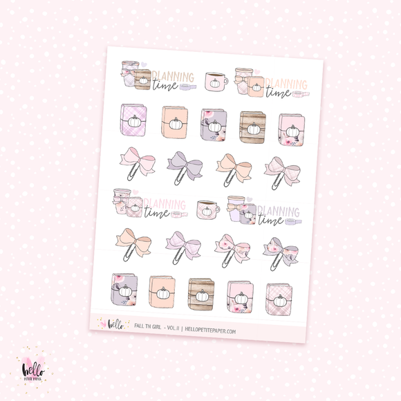 Fall TN girl (vol.II) - planner stickers