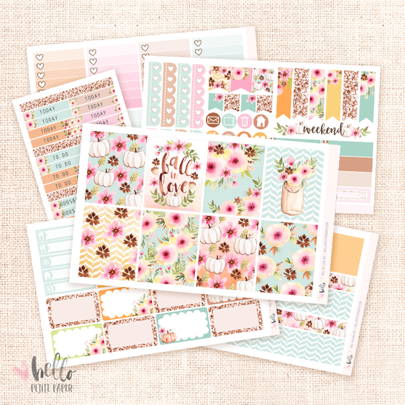 Fall in love sticker kit