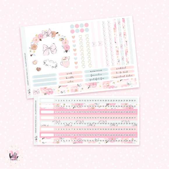 February 2020 NOTES Sticker Kit