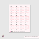 FOILED bow mini arrows (pale pink) - planner stickers
