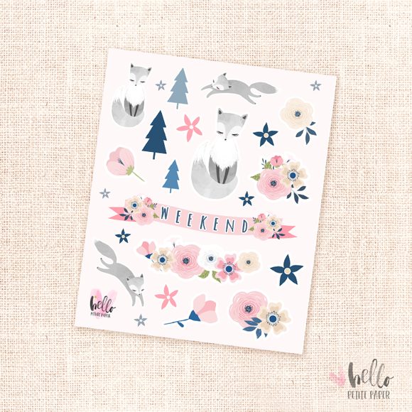 Foxy -  kit deco, planner stickers