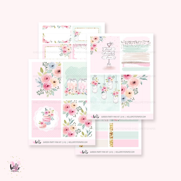 Garden party  - Mini sticker kit
