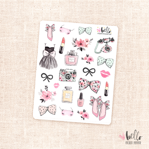 Girly - kit deco, planner stickers