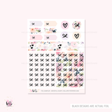 FOILED Grateful Heart  - GLOSSY sticker kit - limited edition