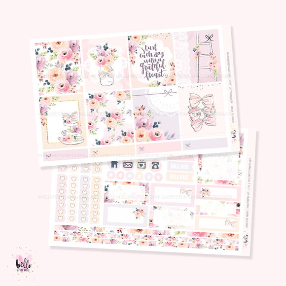 Grateful Heart - Horizontal sticker kit
