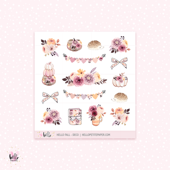 Hello Fall  - Kit deco, planner stickers
