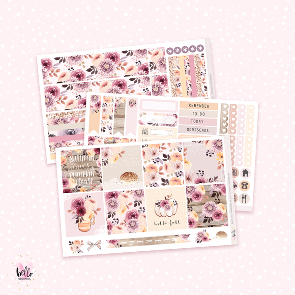 Hello Fall - Horizontal sticker kit
