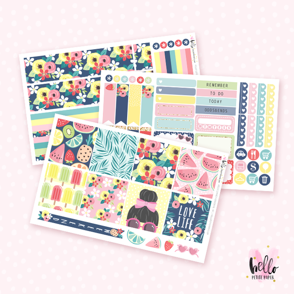 Hello Summer - Horizontal sticker kit