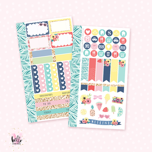 Hello Summer - Personal size sticker kit