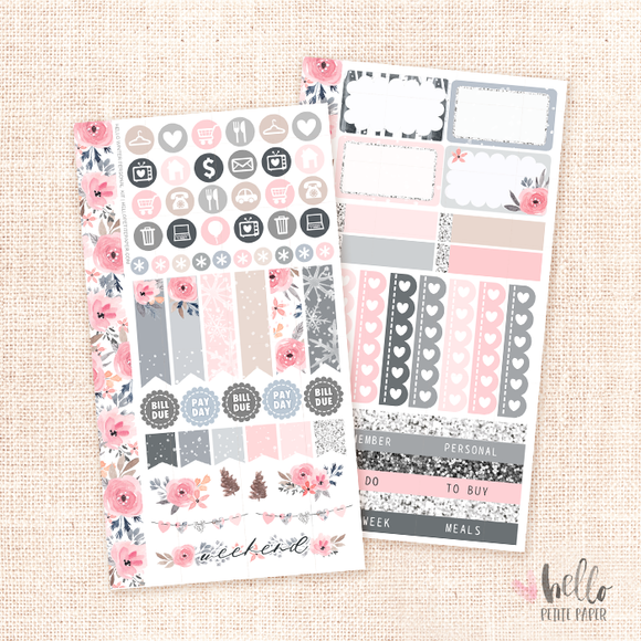Hello Winter  - Personal size sticker kit