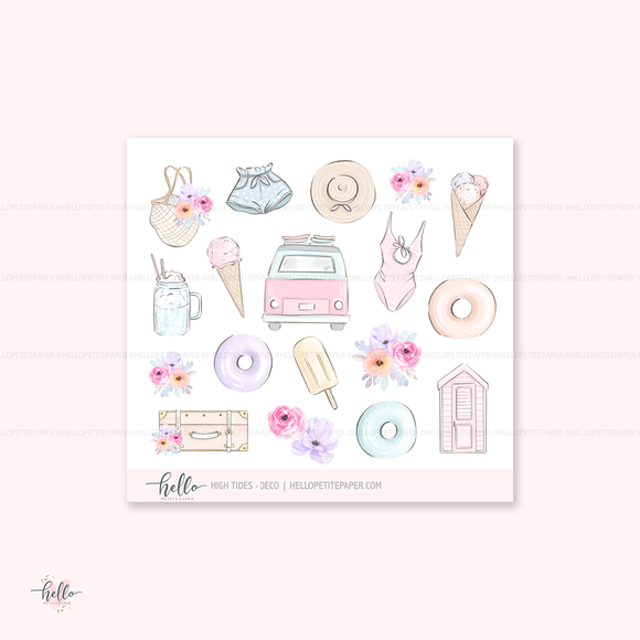 High Tides - Kit deco, planner stickers