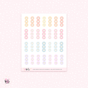 Hobo weeks scalloped checklists stickers