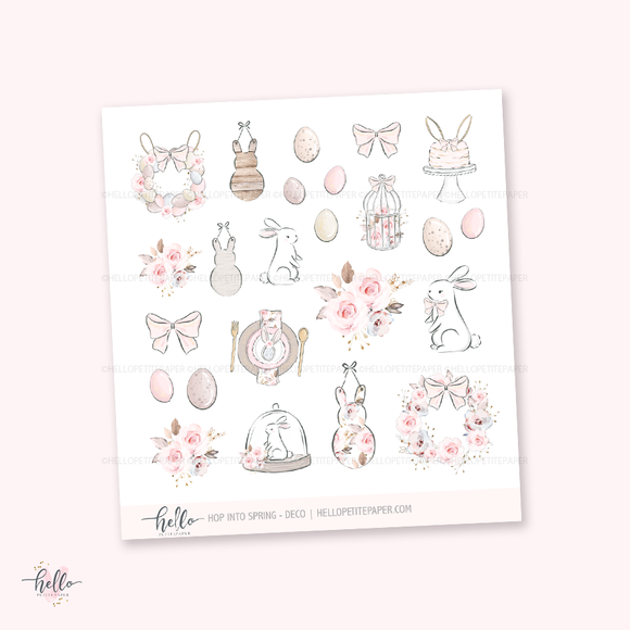 Hop into Spring - Kit deco, planner stickers