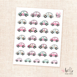 Cars - planner stickers