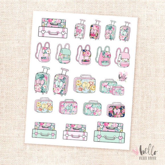 Luggage - planner stickers