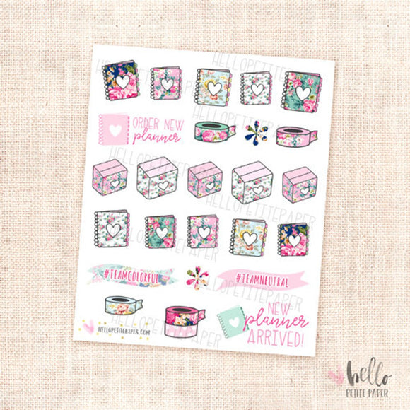 EC Planner Love - planner stickers