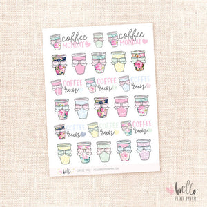 Coffee time - planner stickers