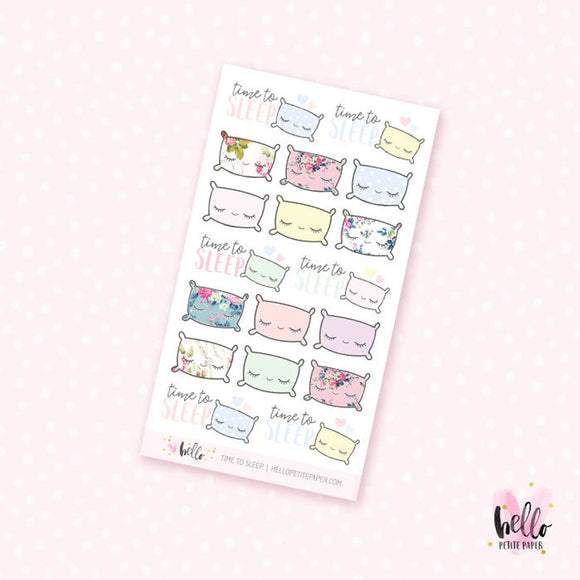 Time to sleep -  mini planner stickers