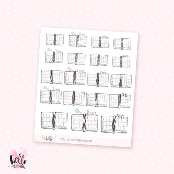 EC Girl - planner stickers