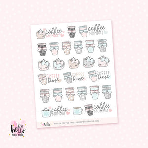 Winter Coffee Time - planner stickers