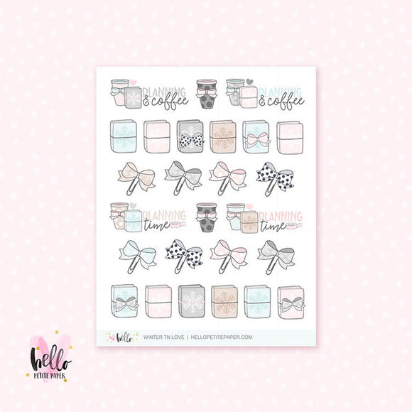 Winter TN Time - planner stickers