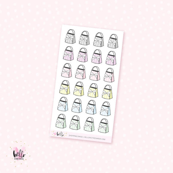 Bow bags - planner stickers