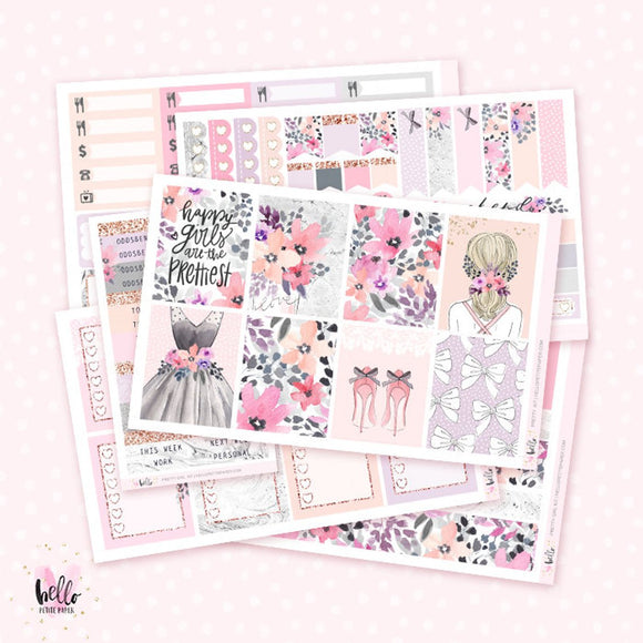 Pretty Girl Planner sticker kit