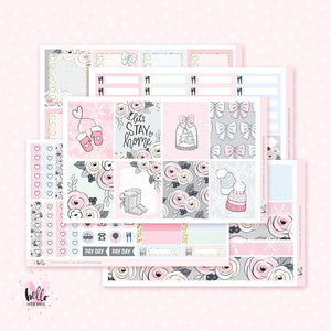 Let's Stay Home Planner sticker kit