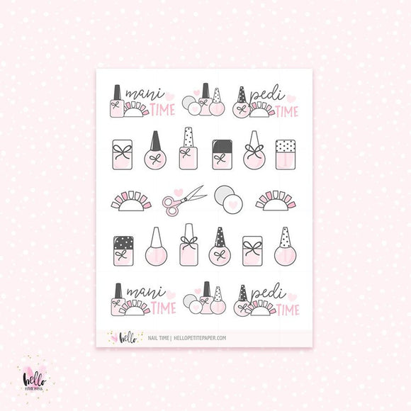 Nail time - planner stickers