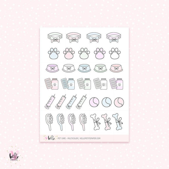 Pet Care (dog) - planner stickers