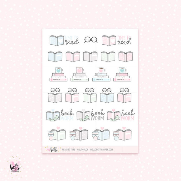 Reading time - planner stickers
