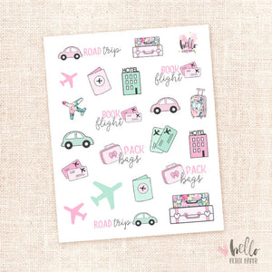 Travel - planner stickers