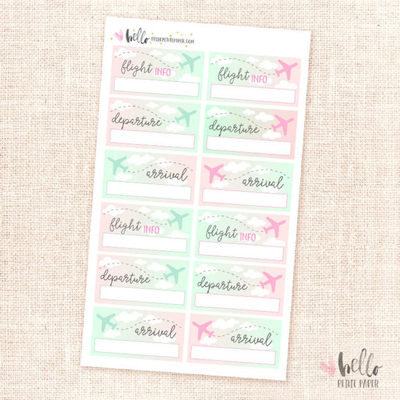 Flight tracker - planner stickers