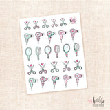 Hair Styling - planner stickers