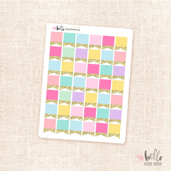 Glitter page flags - planner stickers
