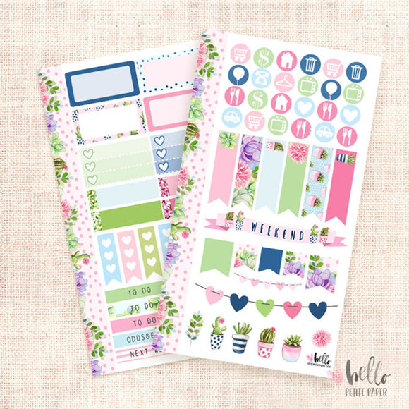 Succulents - Personal sticker kit