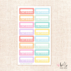 Habit Trackers - planner stickers