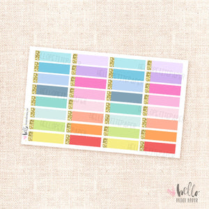 Glitter labels (multicolor) - planner stickers
