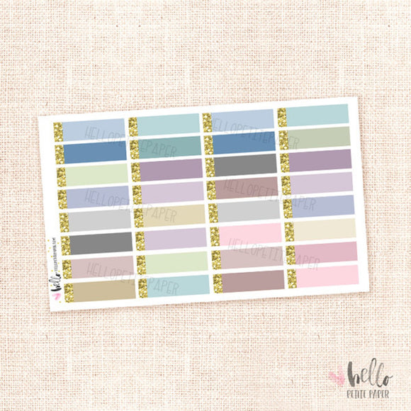 Glitter labels (neutral) - planner stickers