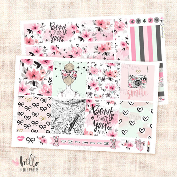 Girly - Horizontal sticker kit