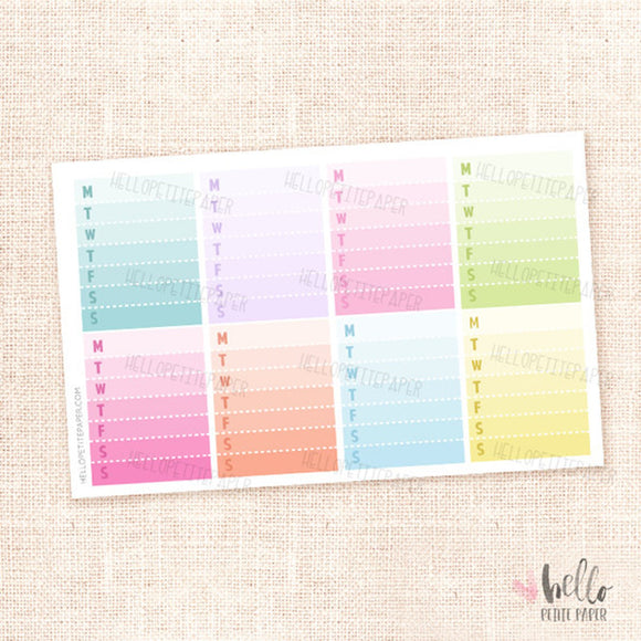 Weekly checklist - planner stickers