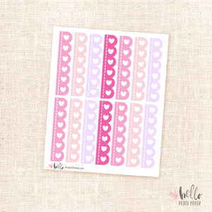 Scalloped checklists (pink) - planner stickers