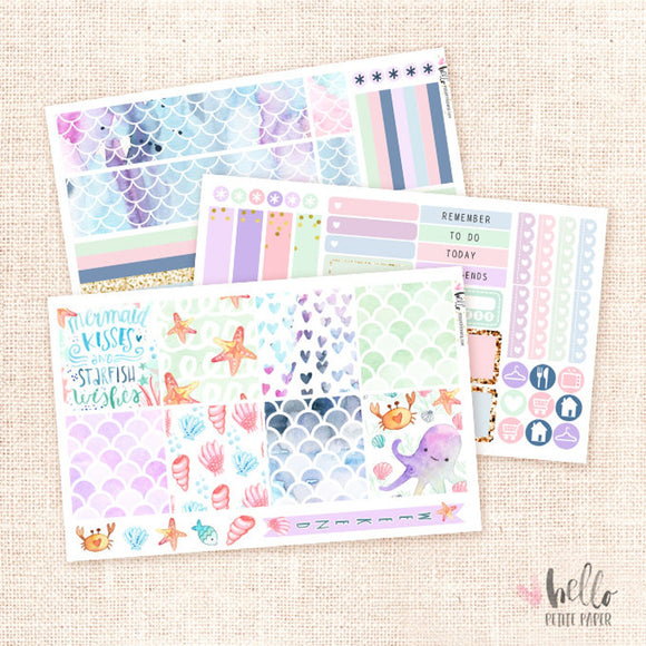 Mermaids - Horizontal sticker kit