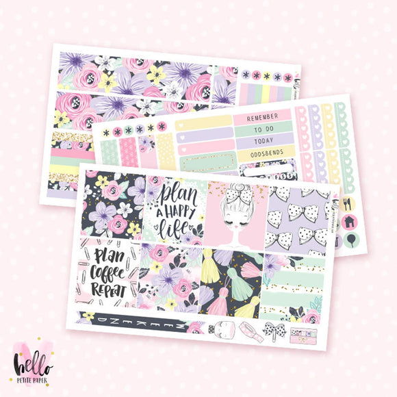 Planner Girl - Horizontal sticker kit