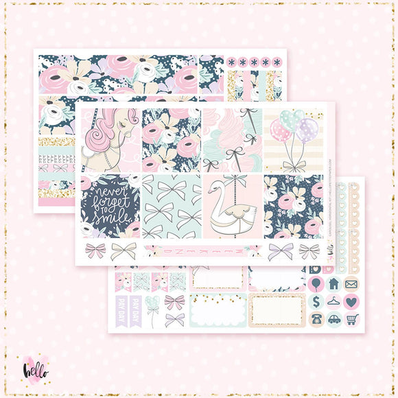 Carousel - Horizontal sticker kit