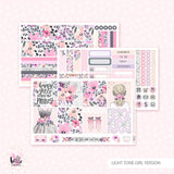 Pretty Girl - Horizontal sticker kit
